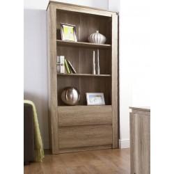 Canyon Oak 2 Drawer Bookcase
