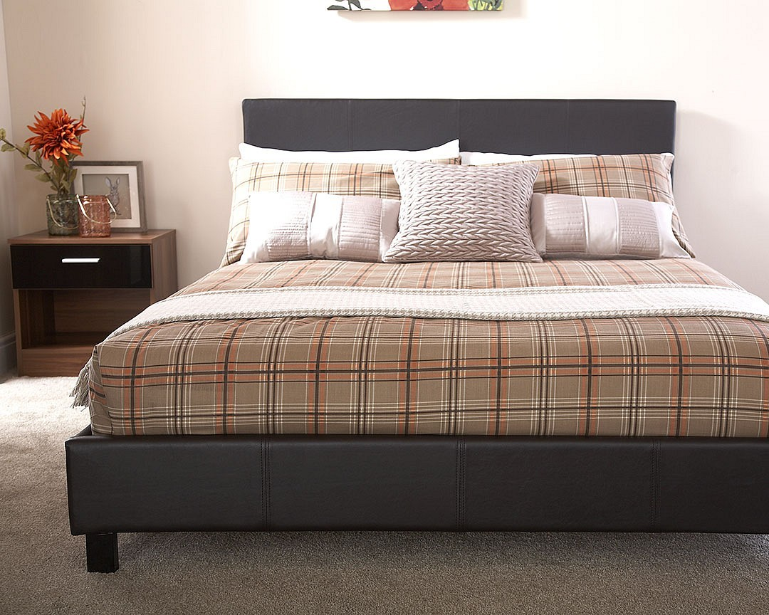 Bed In A Box Faux Leather Bedstead In Black Brixton Beds