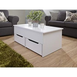 ULTIMATE STORAGE Coffee Table In White