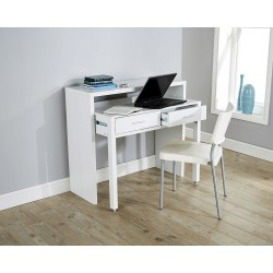 REGIS Extending Desk / Console Table In White