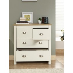 LANCASTER 2 plus 2 Drawer Chest In Cream