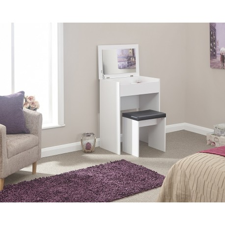 COMPACT Dressing Table Set In White