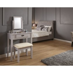 SHAKER Dressing Table & Stool Set In Grey