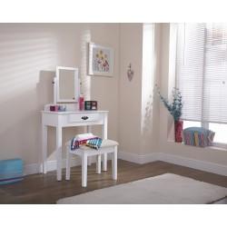 SHAKER Dressing Table & Stool Set In White