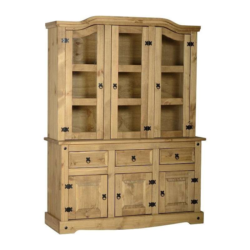 cabinet allen china breakfront cupboard item country bookcase french hutch pine full r ethan