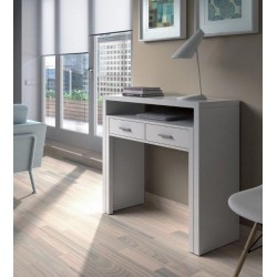 Turin White Gloss Desk/Dressing Table or Console Table