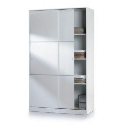 Madrid Sliding Door Wardrobe 120cm Gloss White