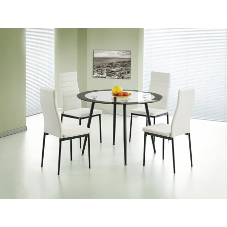 Acodia Dining Set Clear Glass & Blacke