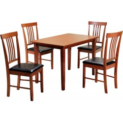 Massa Small Dinning Set with 4 Chairs