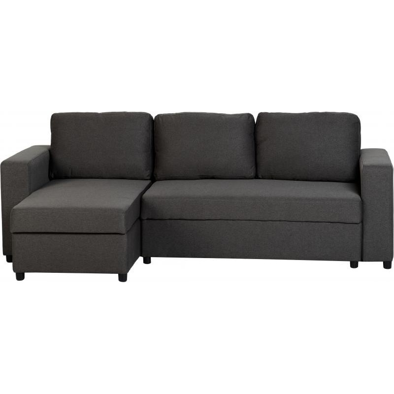 Corner Sofa Bed Under 300: Dora Corner Sofa Bed In Dark Grey Fabric
