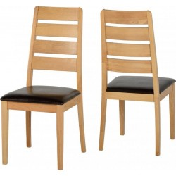 Logan Oak Dining Chair (Sold in Pairs)