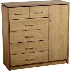 Charles 1 Door 6 Drawer Chest