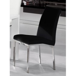 Peru PU Chair Chrome Black