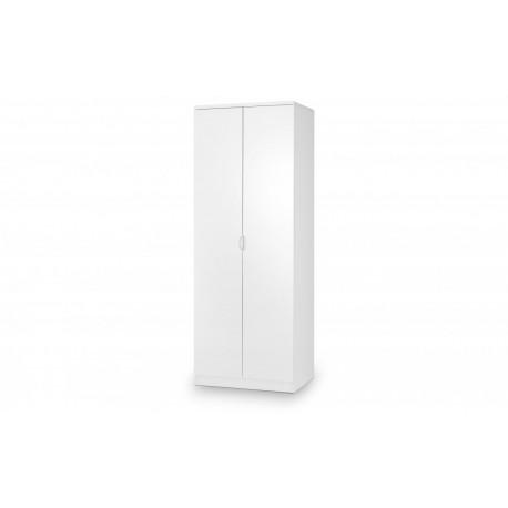Manhattan 2 Door Wardrobe White High Gloss