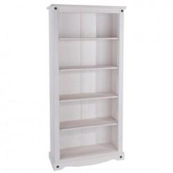 Corona White 5 Shelf Tall Bookcase