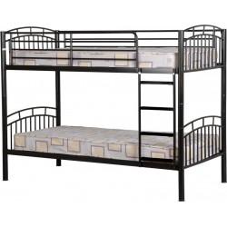 Ventura Single (3ft-90cm) Metal Bunk Bed Frame In Black