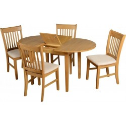 Oxford Extending Dinning Set Natural Oak