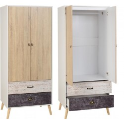 Nordic 2 door 2 draw wardrobe