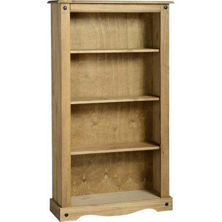 Corona Medium Bookcase in Distressed Waxed Pine