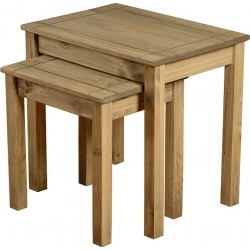 Panama Nest of 2 Tables Natural Wax