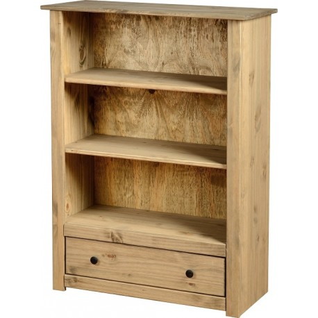 Panama 1 Drawer Bookcase in Natural Wax