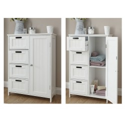 COLONIAL 4 Drawer / 1 Door Bathroom Unit In White