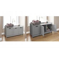 COLONIAL 3 DOOR STORAGE UNIT IN GREY