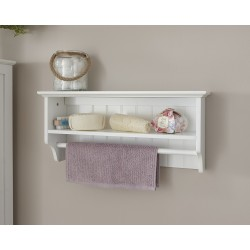 COLONIAL TOWEL RAIL SHELF IN WHITE