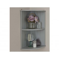 COLONIAL CORNER WALL SHELF UNIT IN GREY