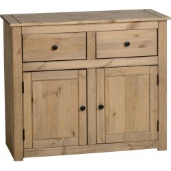 Panama 2 Door 2 Drawer Sideboard in Natural Wax