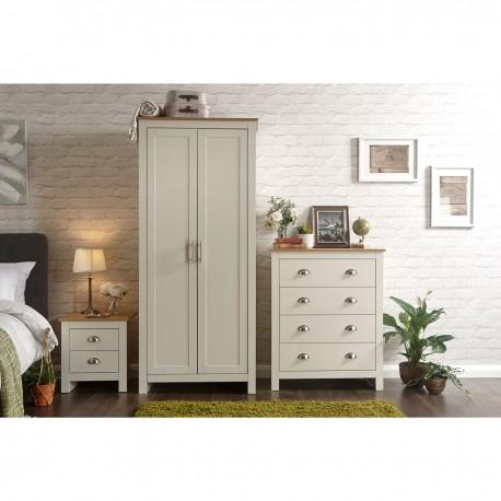 LANCASTER 3 Piece Bedroom Set IN Cream