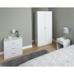 PANAMA 3 Piece Bedroom Set In White