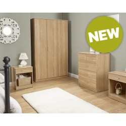Panama 4 Piece Bedroom Furniture Sets In Oak