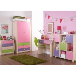 SYDNEY 2 DOOR 3 DRAWER ROBE PINK