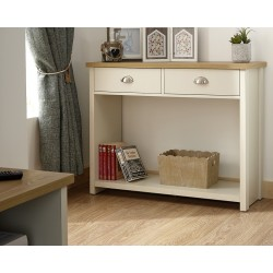 LANCASTER Console Hall Table In Cream