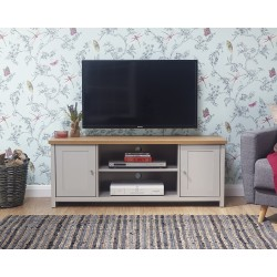 LANCASTER Large TV Unit In Grey