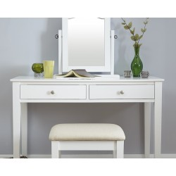 HATTIE Dressing Table Set In White