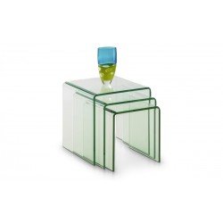 Amalfi Bent Glass Nest Of Tables