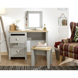 LANCASTER Dressing Table Set Grey