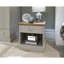 KENDAL 1 Drawer Bedside Table Grey