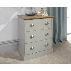 KENDAL 3 Drawer Chest Grey
