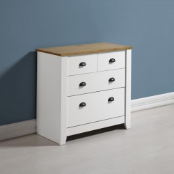 Ludlow 2 Plus 2 Drawer Chest in White/Oak Lacquer