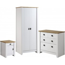 Ludlow Trio in White/Oak Lacquer