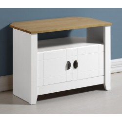 Ludlow TV Unit in White/Oak Lacquer