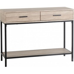 Warwick Console Table in Oak Effect Veneer/Black