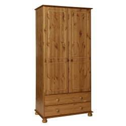 Copenhagen 2 door 2 drawer Wardrobe in Pine
