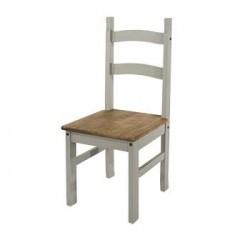 Corona Grey Solid Pine Chair