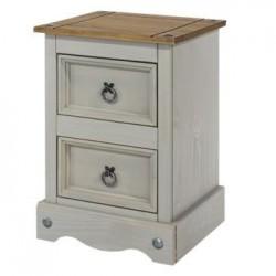 Corona Grey 2 drawer petite bedside cabinet