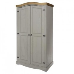 Corona Grey 2 Door Wardrobe