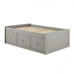 """Corona Grey 3'0"""" Cabin Bed, Grey Wax"""